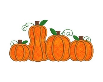Pumpkin Patch Group Fall Autumn Thanksgiving Halloween Applique Machine Embroidery Designs 4X4 and 5X7 Included - Instant Download Sale