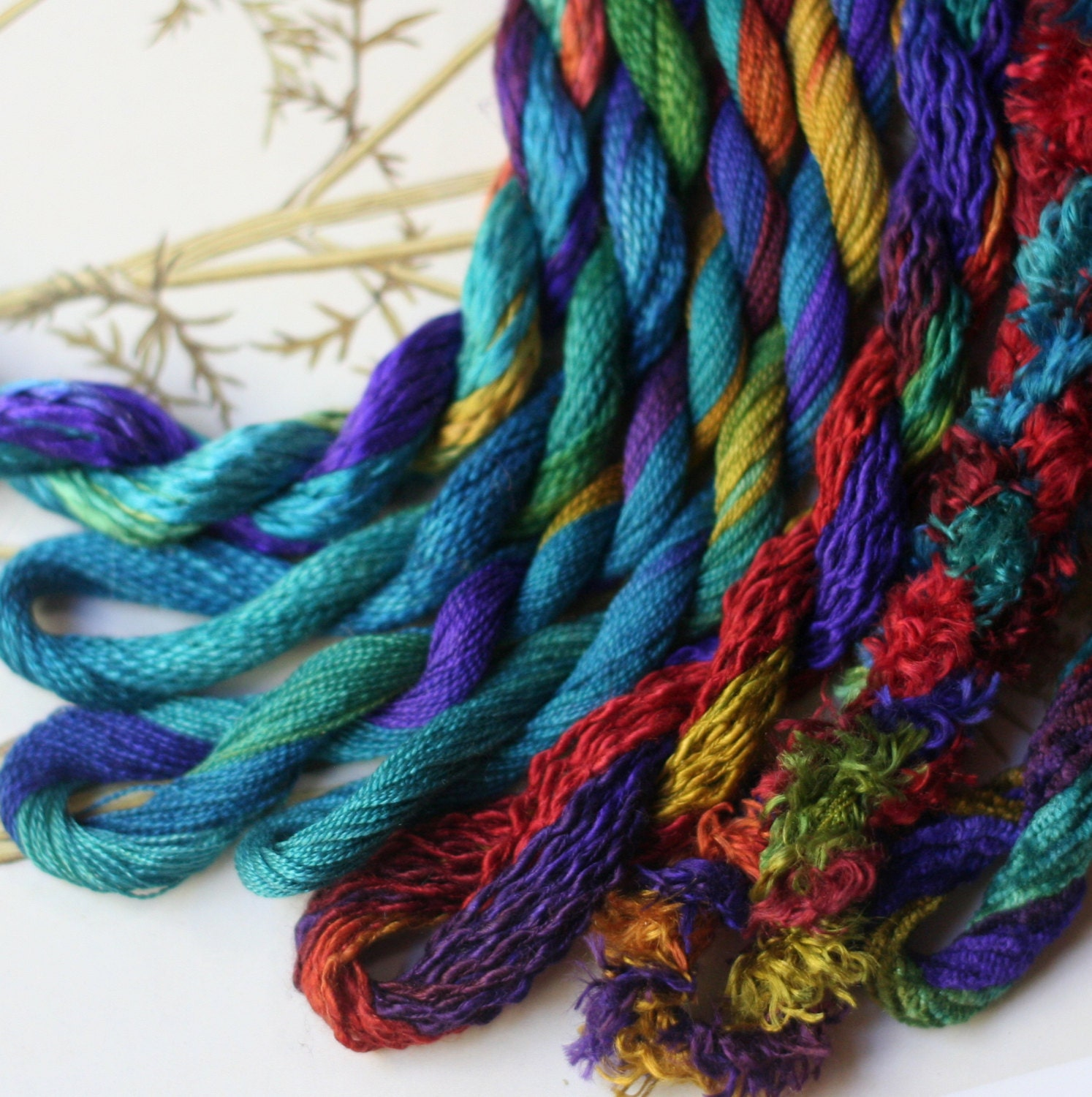 Silk Embroidery Threads Hand Dyed For Embroidery Ribbon