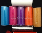 "Glitter HEX Tulle 6"" x 10 yrds  8 colors to choose from"