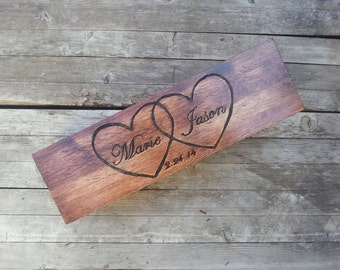 Custom Personalized Wedding Wine Box, wooden wine box, First Fight Box, Memory Box, Time Capsule, Anniversary gift, Wedding gift, gift box