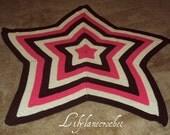 Crochet Star Blanket-Pattern Only-Make Any Size Desired