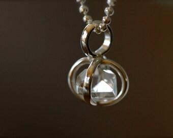 Herkimer Diamond Crystal Necklace - Sterling Silver