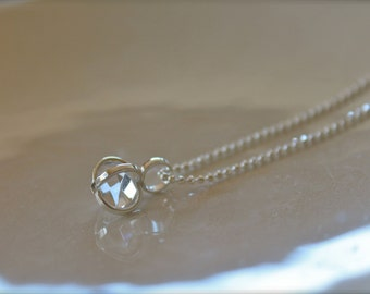Herkimer Diamond Crystal Necklace - Sterling Silver