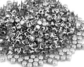 "500 x Silver Round Studs Spots Punk Nailhead Spikes for Bag Shoes Bracelet 0.16""  NQ16"
