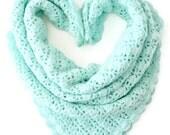 Newborn crochet Baby Blanket / Aqua