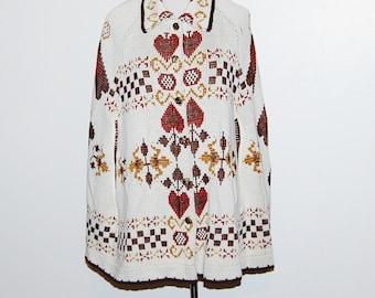 Vintage Shawl Cape 70s Rustic Hippie