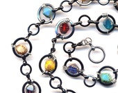 Colorful Necklace, Circle Necklace , Hoops Necklace, New Style of My Multi color Necklace, Handmade Jewelry by AnnaArt72
