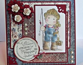 PRECIOUS FRIEND  handmade friendship card