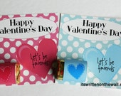 6 Valentine Cards & Nugget Wraps Let's Be Friends  Happy Valentine's Day