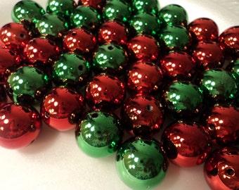 Christmas Ball Beads 20mm - set of 6