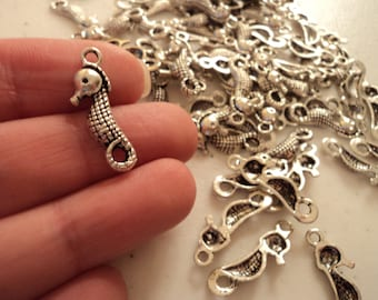 Seahorse - Set of 12 charms -  #S115