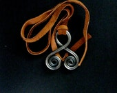 TROLL CROSS Trollkors Iron pendant necklace spiral viking Celtic