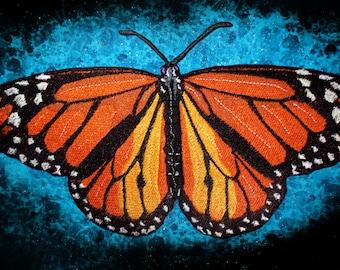Huge Jacket Back Monarch Butterfly Danaus plexippus Iron on Patch