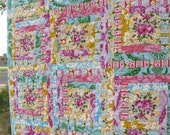 Log Cabin Baby Quilt with Circa fabrics by Jennifer Paganelli Shabby Girl
