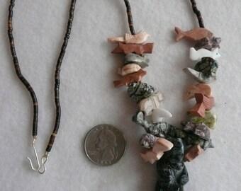 Native American Style Black Bear Fetish Necklace