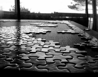 Number Zero - Black and White Puzzle - 4x6 Fine Art Photograph