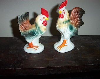 Vintage Salt and Pepper Shakers,Chickens,1950,s