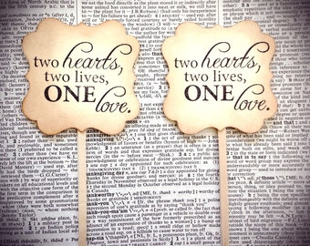 Wedding cuppcake toppers