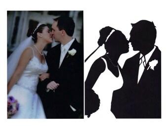 Custom Silhouette Wedding Portrait
