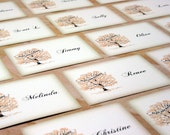 Wedding Place Cards and Other Item Examples, Vintage Book Page Place Cards, Thank You Cards, Programs, Table Cards, Rubber Stamps
