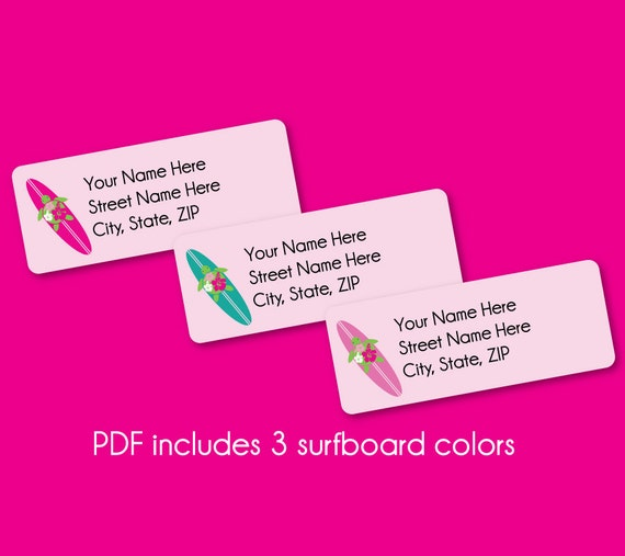 address labels editable pdf instant download by plumeriaprints
