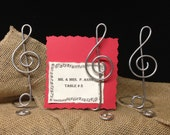 Music Note Treble Clef Sign Card Holder  Wire Stand Musical  Table number Menu Card  and Photo Holder MUSIC LOVER  wedding theme