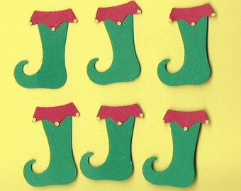 Lot of 6 Quickutz Elf Boots Die Cuts