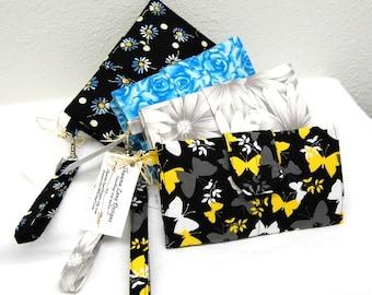 womens handbags, wristlet wallet, YOU CHOOSE FABRIC wallet, handmade wristlet wallet, womens cell phone wallet, Shawna Lane wallet
