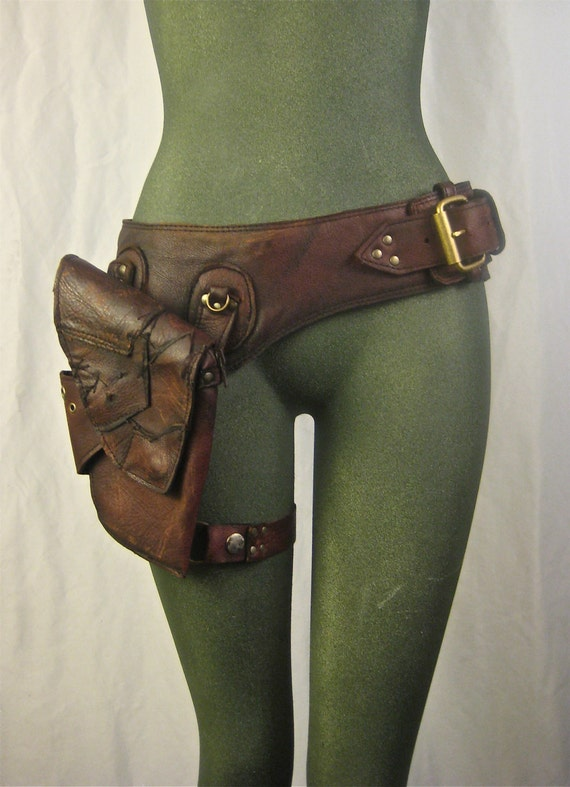Leather Hip Bag Leather Hip Bag Thigh Bag
