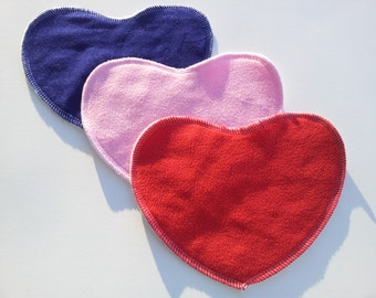 3 Pack of Fun Shaped Toddler Cloth Wipes - Variety Set of Hearts