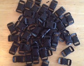 "50 Pack black 3/8"" curved buckle"
