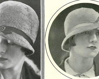 2 1920s Flapper  cloche hats to crochet-Instant download pdf crochet pattern