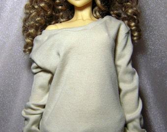 Light beige baggy sweatshirt for SD, Lishe,1/3 bjd DOLL