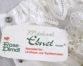 GERMAN Dirndl Embroidered Rose BLOUSE Old Store Stock with tags tag size 16