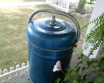50's Royal blue vintage cooler