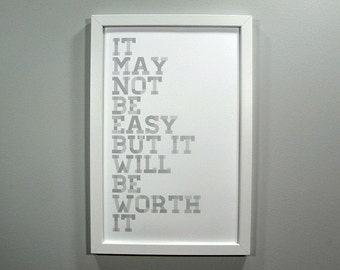 It May Not Be Easy - Framed Print