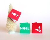 Holiday Gift Tags Set of 6,  Joy,  Christmas gift tags folded