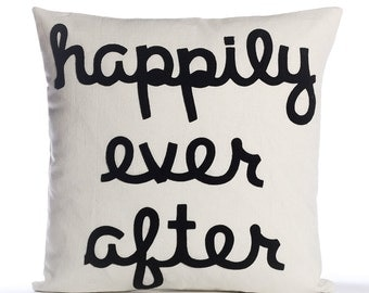 "Throw Pillow, Decorative Pillow, ""Happily Ever After"" pillow, 16 inch, Wedding Gift, Bestseller"