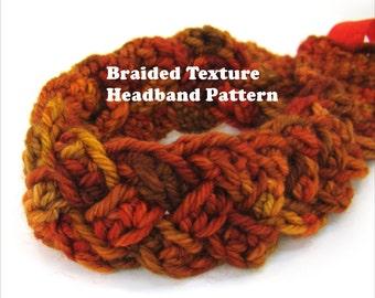 Crochet Headband Pattern DIY Wearable Fiber Art Braided Texture