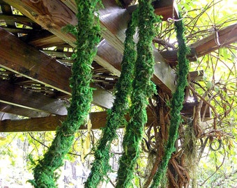 1 yard of Moss Vine Garland-Baskets-Wreaths-Terrariums-Vivariums-Weddings-Fairy Trees and vines-Dart ...