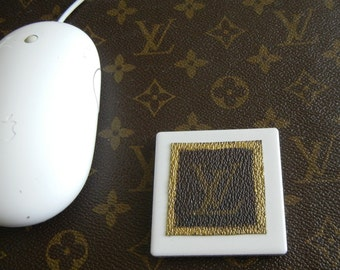 Louis Vuitton upcycled magnet - OOAK upcycled by Posh Rock Vintage