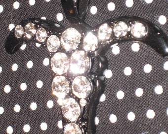 Rhinestone Steerhead Pendant in Sparkling Crystal Bling