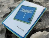 Rustic Dragonfly Birthday Card