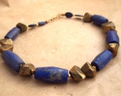 Frida Pyrite and Lapis Necklace