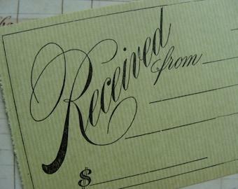 3 Stunning 100 Year Old  Unused Receipts Lot