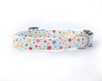 Adjustable Fabric Dog Collar Stars