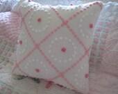 Vintage Chenille Accent  Pillow