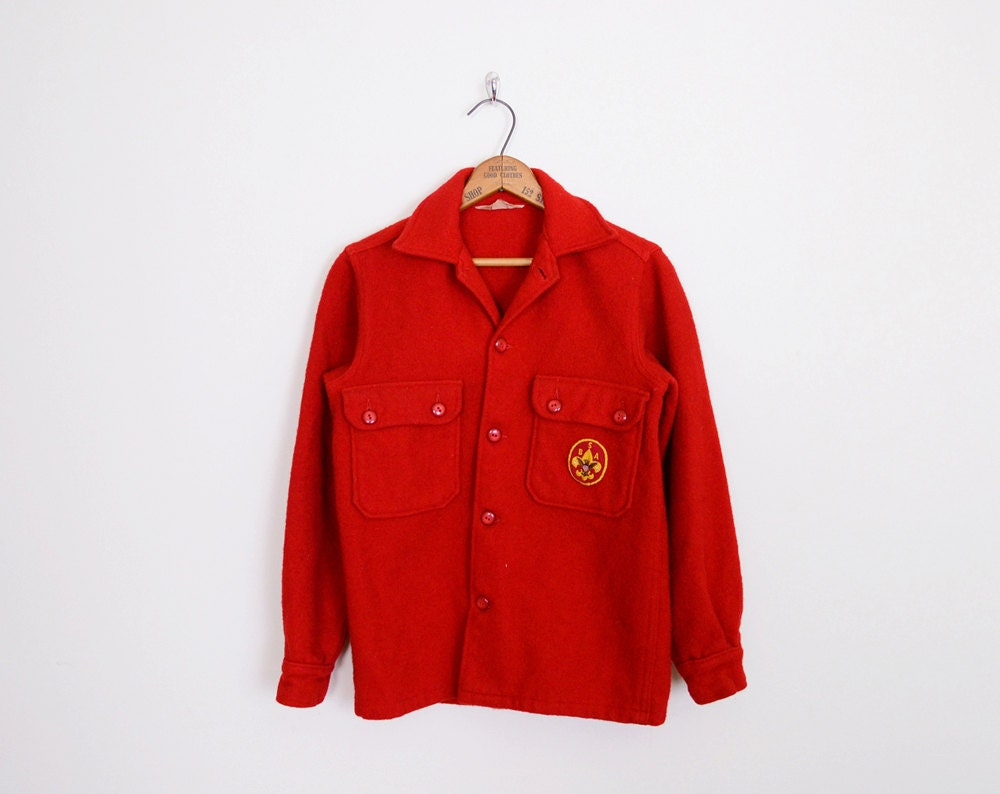 50s boy scout uniform 60s boy scout jacket by trashyvintage