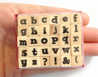 30 Lower Case Alphabet Stamps Set - Rubber Stamp - Etsy Shop, Logo, Branding, Packaging, Invitations, Party, Favors, Wedding Gifts