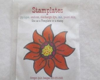Sunflower Stamp - Stamplates
